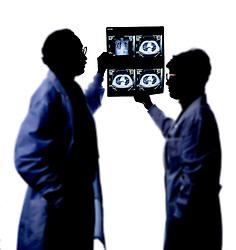 doctors with xrays