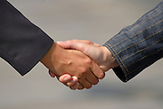 handshake between businessmans