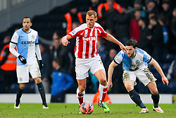 Stoke City's Steve Sidwell in action -  Photo mandatory by-line: Matt McNulty/JMP - Mobile: 07966 386802 - 14/02/2015 - SPORT - Football - Blackburn - Ewood Park - Blackburn Rovers v Stoke City - FA Cup - Fifth Round