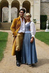 "16.06.2015, Belvedere auf dem Pfingstberg, Potsdam, GER, ACE, ARD Märchen, Der Prinz im Bärenfell, Fototermin, im Bild Der eitle Prinz Marius (Max Befort) und die schoene Elise (Mira Elisa Goeres) // during a photocall for the German TV fairy tale movie ""The Prince in bearskin rug"" at Belvedere auf dem Pfingstberg in Potsdam, Germany on 2015/06/16. EXPA Pictures © 2015, PhotoCredit: EXPA/ Eibner-Pressefoto/ Hundt<br /> <br /> *****ATTENTION - OUT of GER*****"