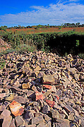 Pipestone at the Lone Tree Pit, Pipestone Quarry, Pipestone National Monument, Minnesota