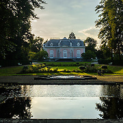 Schloss Benrath, a baroque summer palace surrounded by a beautiful hunting park, in Dusseldorf, Germany. It was built for Elector Palatine Charles Theodor and his wife Countess Palatine Elisabeth Auguste of Sulzbach between 1770 and 1775, but the estranged couple never actually used it - each of them only visited it once, only for a day, on separate occasions.