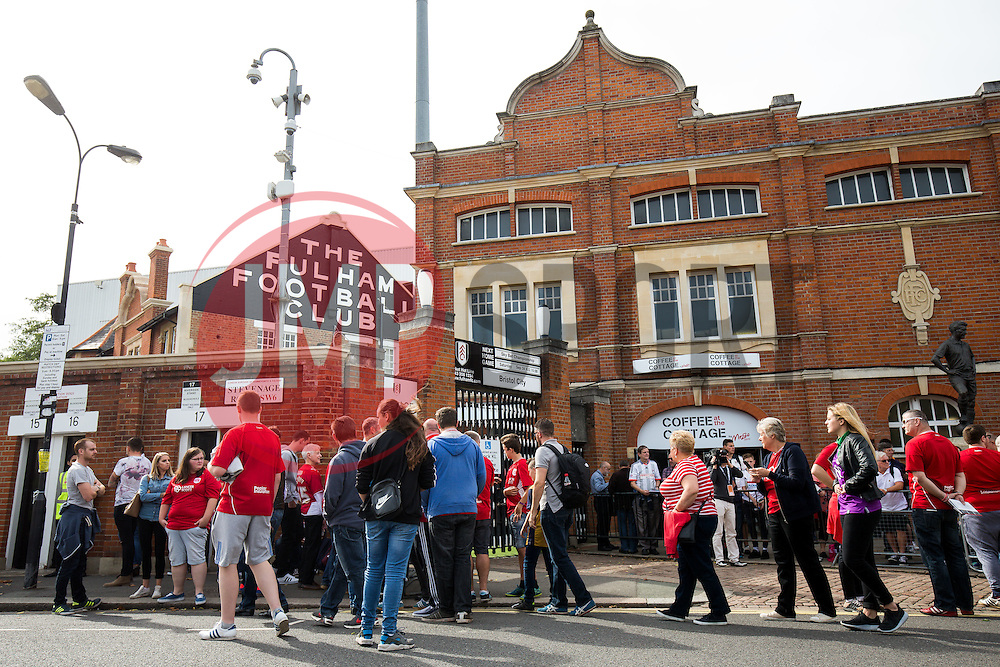 Bristol City fans arrive at the Ground - Rogan Thomson/JMP - 24/09/2016 - FOOTBALL - Craven Cottage Stadium - London, England - Fulham v Bristol City - Sky Bet EFL Championship.
