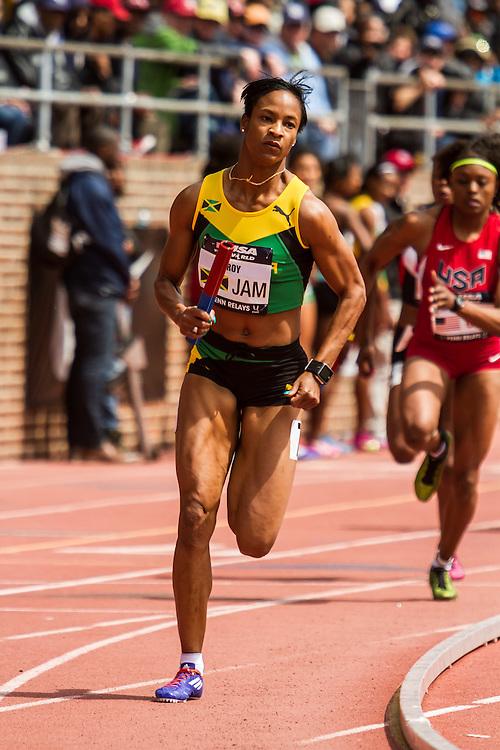 Penn Relays, USA vs the World, womens 4 x 400 meter relay, Anastasia Leroy, Jamaica