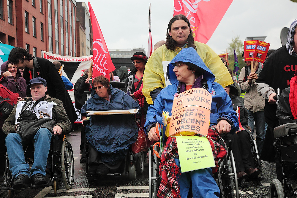 """""""Right to Work"""" march on the Tory Party Conference"""