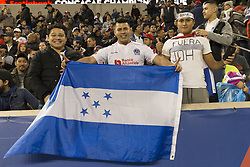 March 1, 2018 - Harrison, New Jersey, United States - Fans of CD Olimpia of Honduras attend 2018 CONCACAF Champions League round of 16 game against New York Red Bulls at Red Bull arena, Red Bulls won 2 - 0  (Credit Image: © Lev Radin/Pacific Press via ZUMA Wire)