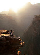 Grand Canyon overlook on Plateau Point, sunset, Nina Rehfeld