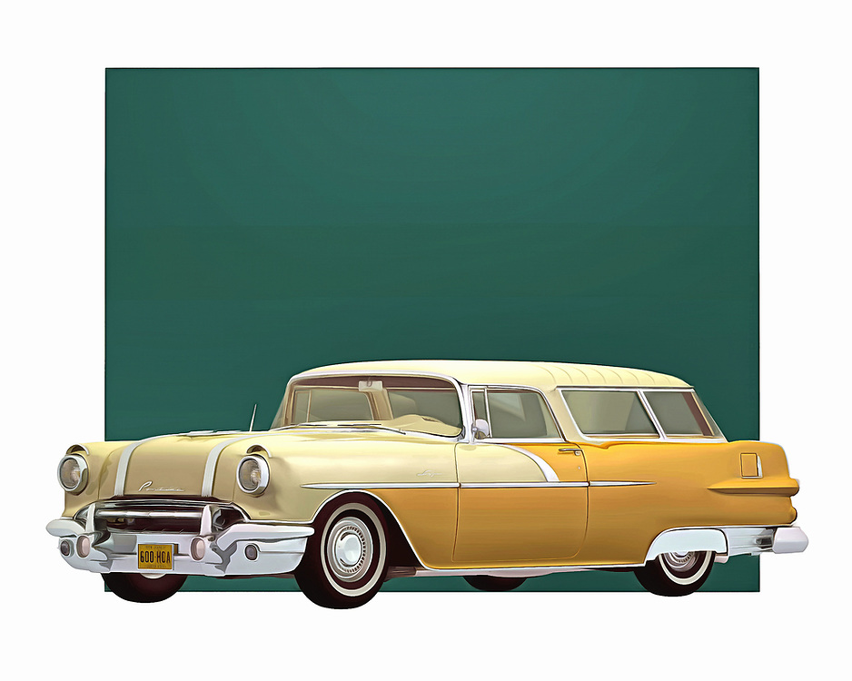 1956 was a remarkable year for automobiles. This Safari Station Wagon from Pontiac is a great example of what cars used to mean. This is the sort of image that just makes you want to jump in the car, and then go as fast as the engine will take you. .<br />