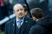 Newcastle United manager Rafael Benitez during the Premier League match between Newcastle United and Bournemouth at St. James's Park, Newcastle, England on 4 November 2017. Photo by Craig Doyle.