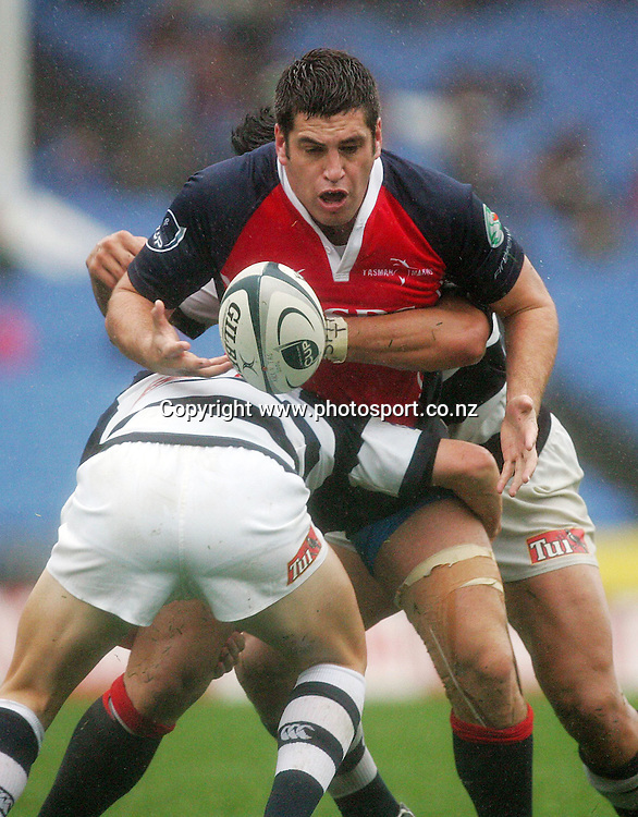 Aaron Kimura loses the ball during the Air New Zealand Cup rugby union match between Auckland and Tasman at Eden Park, Auckland, New Zealand on Sunday 6 August, 2006. Auckland won the match 46 - 6. Photo: Hannah Johnston/PHOTOSPORT<br />