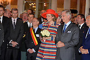 Happy Entrance of King Philippe and Queen Mathilde to Brussels