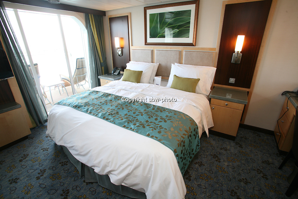 The launch of Royal Caribbean International's Oasis of the Seas, the worlds largest cruise ship..Staterooms.Grand Suite with balcony