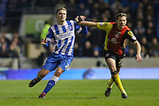 Brighton striker (on loan from Manchester United), James Wilson (21)  during the Sky Bet Championship match between Brighton and Hove Albion and Birmingham City at the American Express Community Stadium, Brighton and Hove, England on 28 November 2015. Photo by Phil Duncan.