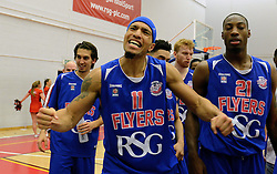 Greg Streete of Bristol Flyers spurs the fans on during the end of the game - Mandatory byline: Dougie Allward/JMP - 11/12/2015 - Basketball - SGS Wise Campus - Bristol, England - Bristol Flyers v Plymouth Raiders - British Basketball League