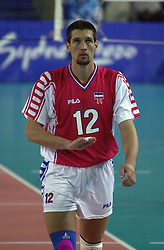 23-09-2000 AUS: Olympic Games Volleybal Joegoslavie - Argentinie, Sydney<br /> Miljkovic, Ivan