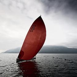 Sagitta 11 designed by Peter Minder on lake Luzern, images taken the 7.10.2010. In Switzerland. Bild by shipyard Heinrichwerft, designed by designboats.ch