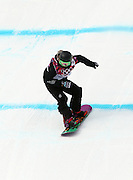 SOCHI, RUSSIA - FEBRUARY 09:  Steffi Luxton of New Zealand competes during the Snowboard Women's Slopestyle Semi finals during day 2 of the Sochi 2014 Winter Olympics at Rosa Khutor Extreme Park on February 9, 2014 in Sochi, Russia. Photo: Ian MacNicol/www.photosport.co.nz