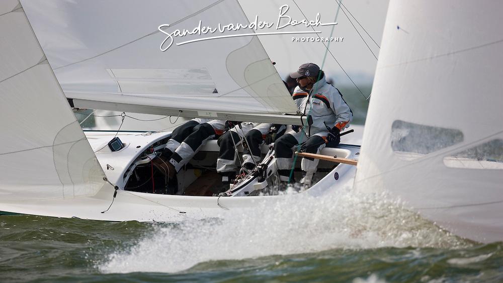 Medemblik, the Netherlands, September 7th 2009. Gaastra Dragon worlds 2009. Second day of racing, race 2 © Sander van der Borch