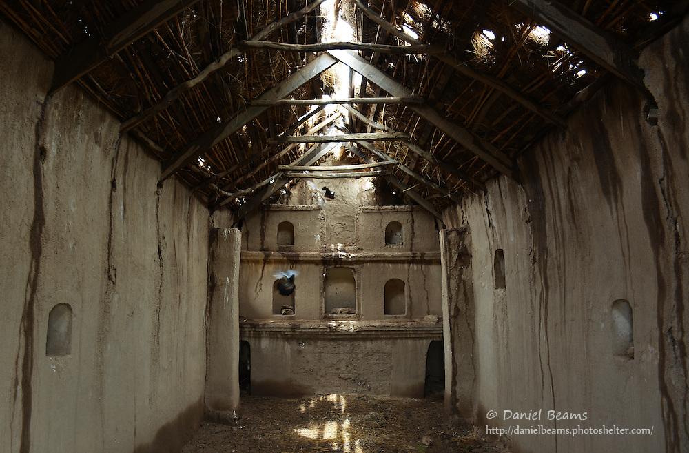 Old adobe church on the altiplano, near La Paz, Bolivia