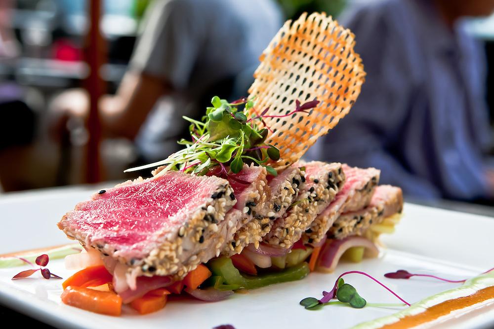 A tuna appetizer at Ulah.