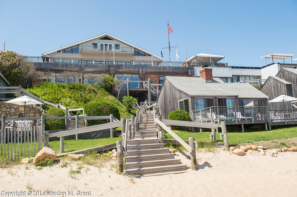 Montauk, NY - 5/23/16 - A view from the beach of Gurney's Montauk Resort &amp; Seawater Spa, in Montauk, NY May 23, 2016. CREDIT: Gordon M. Grant for The Wall Street Journal<br /> <br /> NYSPACES_Montauk