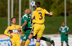 Senad Tiganj vs Elvedin Dzinic at 13th Round of Prva Liga football match between NK Olimpija and Maribor, on October 17, 2009, in ZAK Stadium, Ljubljana. (Photo by Vid Ponikvar / Sportida)