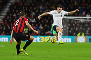 James Milner (7) of Liverpool controls the ball as he attacks during the Premier League match between Bournemouth and Liverpool at the Vitality Stadium, Bournemouth, England on 7 December 2019.
