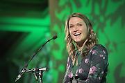 Former Ohio University volleyball star, Ellen Herman, was inducted into the Kermit Blosser Ohio Athletics Hall of Fame during the 2016 Alumni Awards Gala at Ohio University's Baker Center Ballroom on Friday, October 07, 2016.