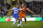 Reading's Carlos Orlando Sa shoots for his second goal  during the Sky Bet Championship match between Reading and Ipswich Town at the Madejski Stadium, Reading, England on 11 September 2015. Photo by Mark Davies.