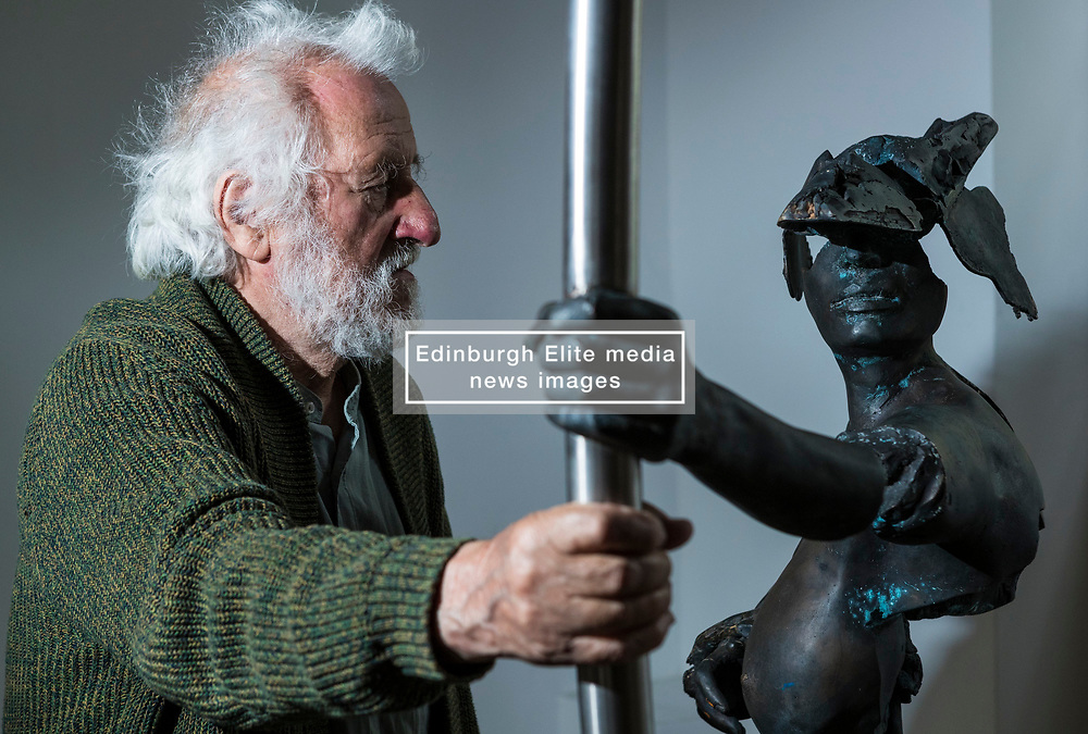 A giant metal warrior with a huge LEGO head – inspired by ancient Chinese sculptures – is among the attractions in a new exhibition hosted by the University of Edinburgh.<br />  <br /> The show – hosted by the Confucius Institute for Scotland, based at the University – features work by 28 artists from each country in the European Union and three artists from China. It runs from 3-30 June in the Church Galleries in Summerhall, Edinburgh.<br />  <br /> The 31 artists took inspiration from the world-renowned terracotta soldiers, which were discovered in 1974 when the tomb of the 3rd Century BC First Chinese Emperor Qin Shi Huang was unearthed in the Xi'an province. The artists considered how these iconic figures could be reinterpreted for the 21st century.<br /> <br /> Pictured: Artist, 86 year old, Félix Roulin with his response to the Terracotta Warriors, Amazone en Armes