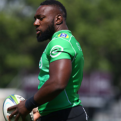 DURBAN, SOUTH AFRICA - FEBRUARY 12: Tendai Beast Mtawarira during the Cell C Sharks training session at Growthpoint Kings Park on February 12, 2018 in Durban, South Africa. (Photo by Steve Haag/Gallo Images)