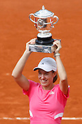 Roland Garros. Paris, France. June 9th 2007..Women's Final..Justine HENIN won against Ana IVANOVIC.