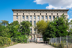 Exterior view of  Berghain nightclub in Berlin Germany