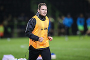 Tranmere Rovers James Norwood(10) warming up during the Vanarama National League match between Forest Green Rovers and Tranmere Rovers at the New Lawn, Forest Green, United Kingdom on 22 November 2016. Photo by Shane Healey.