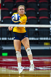 BLOOMINGTON, IL - September 15: Martha Konovodoff during a college Women's volleyball match between the ISU Redbirds and the Marquette Golden Eagles on September 15 2019 at Illinois State University in Normal, IL. (Photo by Alan Look)