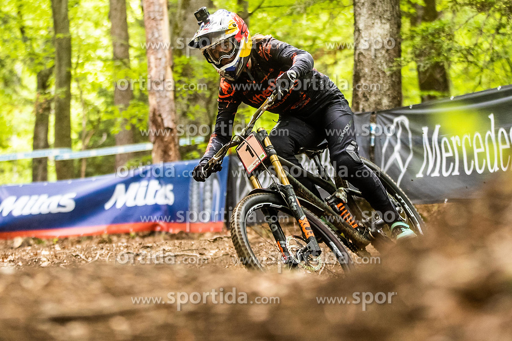Amaury Perron of France during Mercedes-Benz UCI Mountain Bike World Cup competition final day in Bike Park Pohorje, Maribor on 28th of April, 2019, Slovenia.  . Photo by Grega Valancic / Sportida