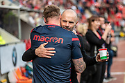 Rotherham United Manager Paul Warne before the EFL Sky Bet League 1 match between Rotherham United and Bolton Wanderers at the AESSEAL New York Stadium, Rotherham, England on 14 September 2019.