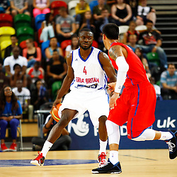 GB men vs Puerto Rico basketball at the Copper Box Arena. Gaurd Ogo Adegboye (04)  11/08/2013 (c) MATT BRISTOW