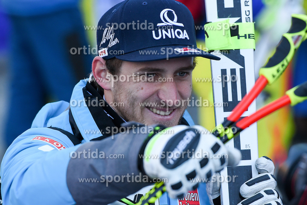 16.12.2016, Saslong, St. Christina, ITA, FIS Weltcup Ski Alpin, Groeden, Abfahrt, Herren, im Bild Matthias Mayer (AUT) // Matthias Mayer of Austria reacts after his run of men's downhill of FIS Ski Alpine World Cup at the Saslong in St. Christina, Italy on 2016/12/16. EXPA Pictures © 2016, PhotoCredit: EXPA/ Erich Spiess