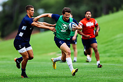 Piers O'Conor is challenged by Harry Ascherl as Bristol Bears start to use their new almost completed Training centre - Rogan/JMP - 08/07/2020 - RUGBY UNION - Beggar Bush Lane - Bristol, England.