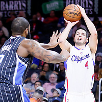 03 December 2014: Los Angeles Clippers guard J.J. Redick (4) takes a jump shot during the Los Angeles Clippers 114-86 victory over the Orlando Magic, at the Staples Center, Los Angeles, California, USA.