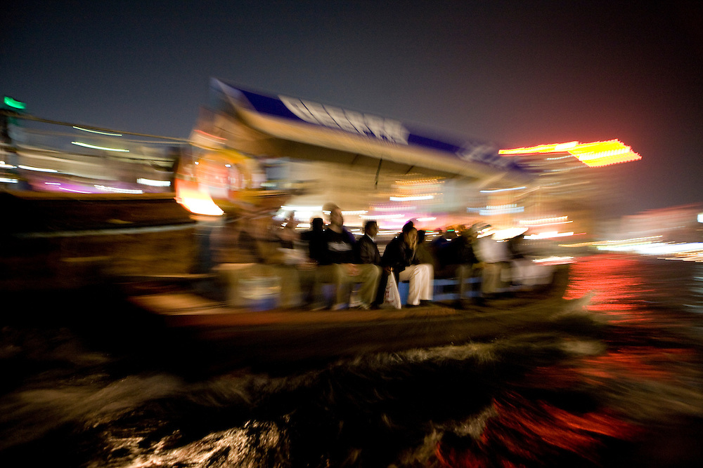 Dubai, United Arab Emirates (UAE). January 29th 2009..Dubai Creek, on the boat from Bastikia to Deira..