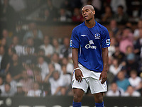 Photo: Daniel Hambury.<br /> Fulham v Everton. The Barclays Premiership.<br /> 27/08/2005.<br /> Everton's Marcus Bent shows frustration as his side perform poorly.