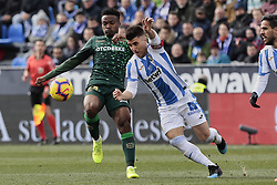 February 10, 2019 - Madrid, Madrid, Spain - CD Leganes's Unai Bustinza and Real Betis Balompie's William Silva de Carvalho during La Liga match between CD Leganes and Real Betis Balompie at Butarque Stadium in Madrid, Spain. February 10, 2019. (Credit Image: © A. Ware/NurPhoto via ZUMA Press)
