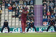 Chris Gayle of West Indies batting during the One Day International match between England and West Indies at the Ageas Bowl, Southampton, United Kingdom on 29 September 2017. Photo by Dave Vokes.