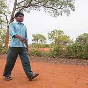 CAPTION: Under the Chamkol programme, every disabled member of the community has an Individual Health Plan (IHP). Shantamurthy contracted polio when he was six or seven years old. It left him without the ability to walk. Mobility India supported him to undergo surgery. Following the surgery, its Rehabilitation Therapy Assistants (RTAs) worked with him on an exercise regime, and this helped the pain subside. Since then, he has learned to walk again with the aid of calliper splints. LOCATION: Kallahalli (village), Kasaba (hobli), Chamrajnagar (district), Karnataka (state), India. INDIVIDUAL(S) PHOTOGRAPHED: Shanthamurthy.
