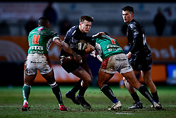 Guinness PRO14, Rodney Parade, Newport, UK 06/03/2020<br /> Dragons vs Benetton Rugby<br /> Jack Dixon of Dragons is tackled by Nicola Quaglio of Benetton Rugby<br /> Mandatory Credit ©INPHO/Ryan Hiscott