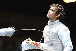 05.08.2012, ExCeL Exhibition Centre, London, GBR, Olympia 2012, Fechten, im Bild BALDINI Andrea (ITA) Team Foil // during fencing, at the 2012 Summer Olympics at ExCeL Exhibition Centre, London, United Kingdom on 2012/08/05. EXPA Pictures © 2012, PhotoCredit: EXPA/ Insidefoto/ Giovanni Minozzi *****ATTENTION - for AUT, SLO, CRO, SRB, SUI and SWE only *****