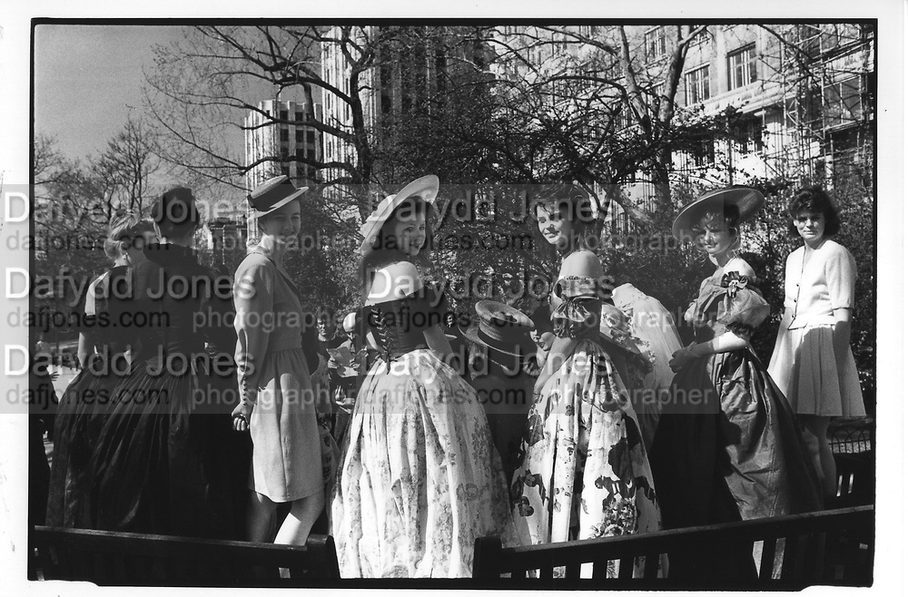 Charlotte Kettlewell, Henrietta Tollemache, Sacha Chilton, Camilla Wanbwell, Clare Lindsay,at the Berkeley Dress Show at the Savoy 11/4/88 ONE TIME USE ONLY - DO NOT ARCHIVE  © Copyright Photograph by Dafydd Jones 66 Stockwell Park Rd. London SW9 0DA Tel 020 7733 0108 www.dafjones.com