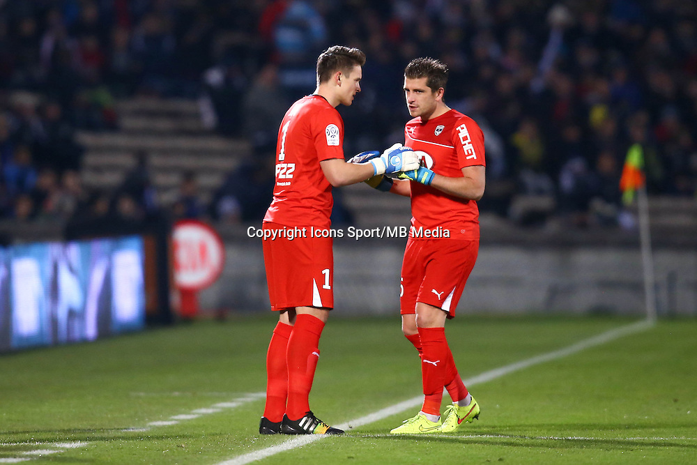 Azbe Jug / Cedric Carrasso - 06.12.2014 - Bordeaux / Lorient - 17eme journee de Ligue 1 -<br />